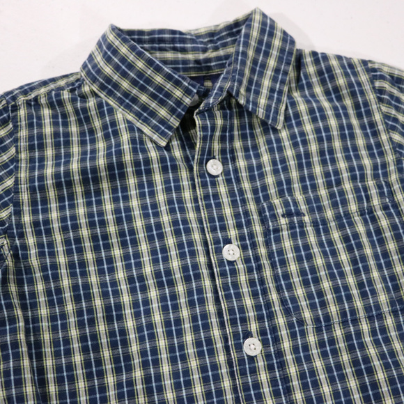 Cherokee Other - Plaid Blue/Green Strip Button down 4T Short Sleeve